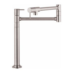 Axor Starck Pot Filler, Deck-Mounted, Steel Optik