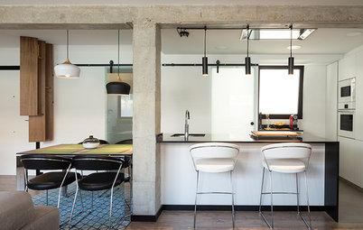 Casas Houzz: Un piso en Valencia versátil y de estilo industrial