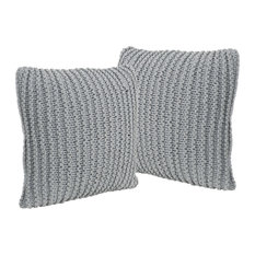 GDF Studio Tate Knitted Cotton Pillows, Set of 2