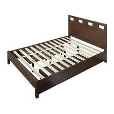"Modus Furniture International Inc - Platform Storage Bed, Chocolate Brown Finish, King, 78""x84""x44 - Platform Beds"