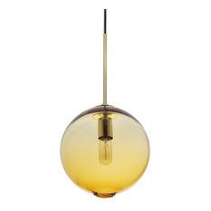 """Zurich Pendant Light, Amber, 9.9"""""""