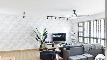 Residential Project | Herringbone Wallpaper