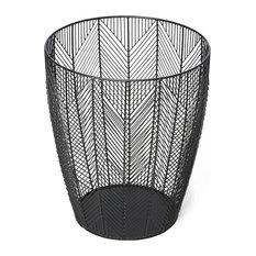 Iron Fishbone Waste Basket
