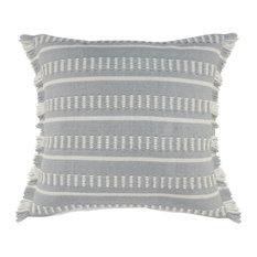 Dash Geometric Indoor Outdoor Throw Pillow, Blue/White