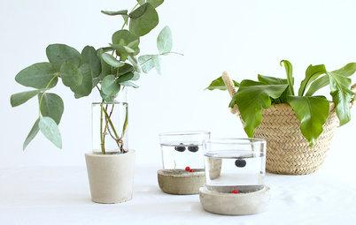 Своими руками: Делаем вазы из стакана и цемента
