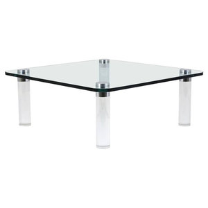 Consigned Mid-Century Modern-Style Lucite Coffee Table