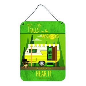 Retro Camper Camping Wander Wall Door Hanging Print Southwestern Outdoor Wall Art By The Store