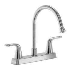 Parmir Triple Hole Double Handle Kitchen Faucet With Cover Plate