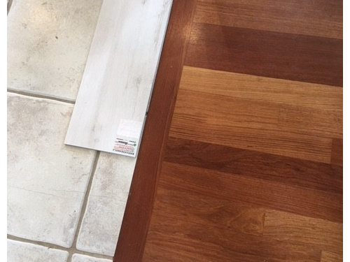 Flooring Transition Can I Go From Real Wood To Wood Like Tile - Hardwood floor patio door transition