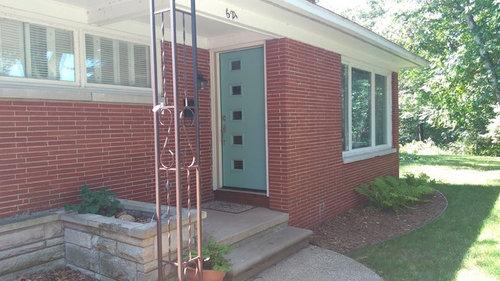 Garage Door Color Advice For Mid Century Red Brick Ranch