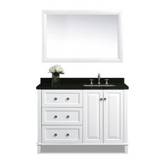 Ancerre Designs Hannah 48 Off Centered Vanity Set With Mirror Right Basin