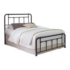Leggett & Platt - Baldwin Complete Bed With Metal Posts and Detailed Castings, Queen - Panel Beds