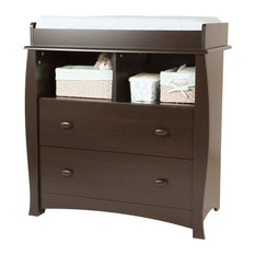 South Shore Beehive Changing Table with Removable Changing Station, Espresso