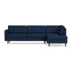 Lexington 2-Piece Sectional Sofa, Navy, Chaise on Right