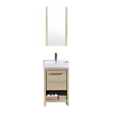 """Milan 20"""" Vanity Set With Medicine Cabinet, Briccole Oak"""