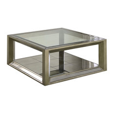 Furniture Import U0026 Export Inc.   Pascual Dull Gold With Antique Mirrored  Coffee Table