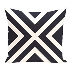 """x"" Marks The Spot Stripes Print Outdoor Pillow, Bewitching, 20""x20"""