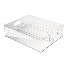 InterDesign Clear Double Compartment Fridge Bin
