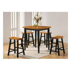 Acme Gaucho 5-Piece Counter Height Set, Oak and Black