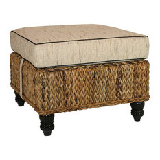 Naples Woven Ottoman with Cushion