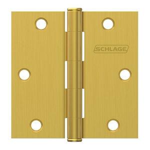 "Schlage SC3P1020F716E Aged Bronze 4/"" x 4/"" Square Corner Plain Bearing Hinge"