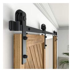 ZEKOO Sliding Barn Door Hardware Track Kit for Double Door, 13'