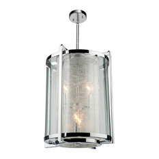 Artcraft Lighting AC10800CH Crackled Ice Drum Chandelier, Chrome