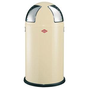 Wesco Push-Two Recycling Bin, Almond