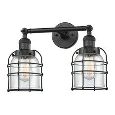"""2 Light Small Bell Cage 18"""" Bathroom Fixture"""