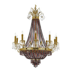 Crystal Chandelier With Black/Red Crystals