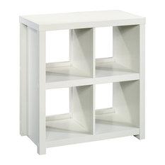 Sauder HomePlus 4 Cubby Bookcase In White