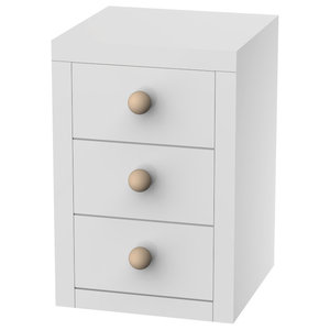 Bolas Bedside Table, 3 Drawers