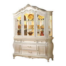 Acme Chantelle Buffet and Hutch, Pearl White 63544