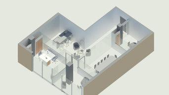 Agencement de 80 m² en bureaux