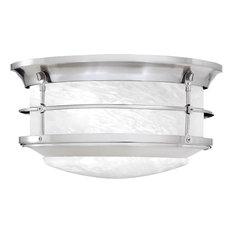Bestselling outdoor flush mount lights for 2018 houzz elk group international newport ceiling lamp brushed nickel 2x60 brushed nickel outdoor flush workwithnaturefo