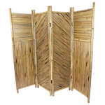 """Master Garden Products - Bamboo Screen, 4 Panels Self Standing, 72""""W x 72""""H - This beautiful self-standing bamboo screen and room divider is handcrafted with natural Moso bamboo. This screen will separate an area for privacy or for creating an extra space. The bamboo screen panels are processed naturally for indoor and outdoor use. It can be folded for easy storage. 72""""W x 72""""H"""