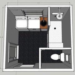 need help with awkward laundry roombathroom floor plan - Bathroom Laundry Room Combo Floor Plans