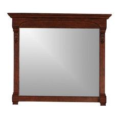 James Martin Furniture Brookfield 47 25 Mirror Warm Cherry Bathroom Mirrors