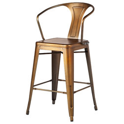 Industrial Outdoor Bar Stools And Counter Stools by The Khazana Home Austin Furniture Store