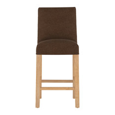 Hampton Slipcover Bar Stool Linen Chocolate