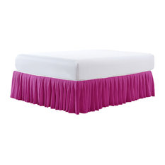 "18"" Pleated Bed Skirt, Spring Crocus, King"