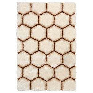 Nobel House Cream Brown Rectangular Funky Rug, 150x230 cm