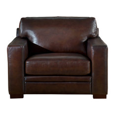 Hydeline Leather Chatsworth 100% Leather Armchair, Brown