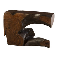 45-inchL Clarissa Console Table Solid Acacia Wood Live Edge One Of A Kind Free Form