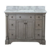 Inez Bathroom Vanity, Gray, 43""
