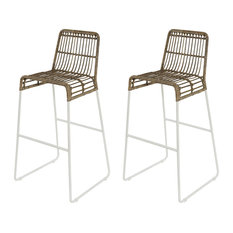 Balla Kubu Rattan Bar Stools, Set of 2