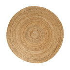 Kerala Natural Jute Rug, Natural and Brown, 6