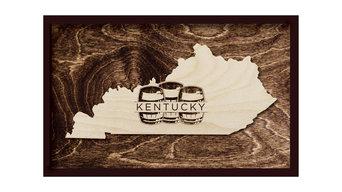 """Kentucky Bourbon Barrel Framed, 19""""x12"""""""