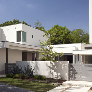 Photo of a modern home design in Austin.