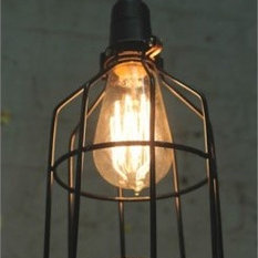 industrial wire cage light pendant lighting